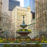 In the middle of the City Hall Park stands a delightful fountain designed in 1871 by Jacob Wrey Mould, who helped to lay out Central Park. It is beautifully decorated for the holidays... #picturesofnewyork