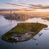 Early Morning over Governors Island.