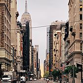 Empire State Building and 5th Avenue, Manhattan