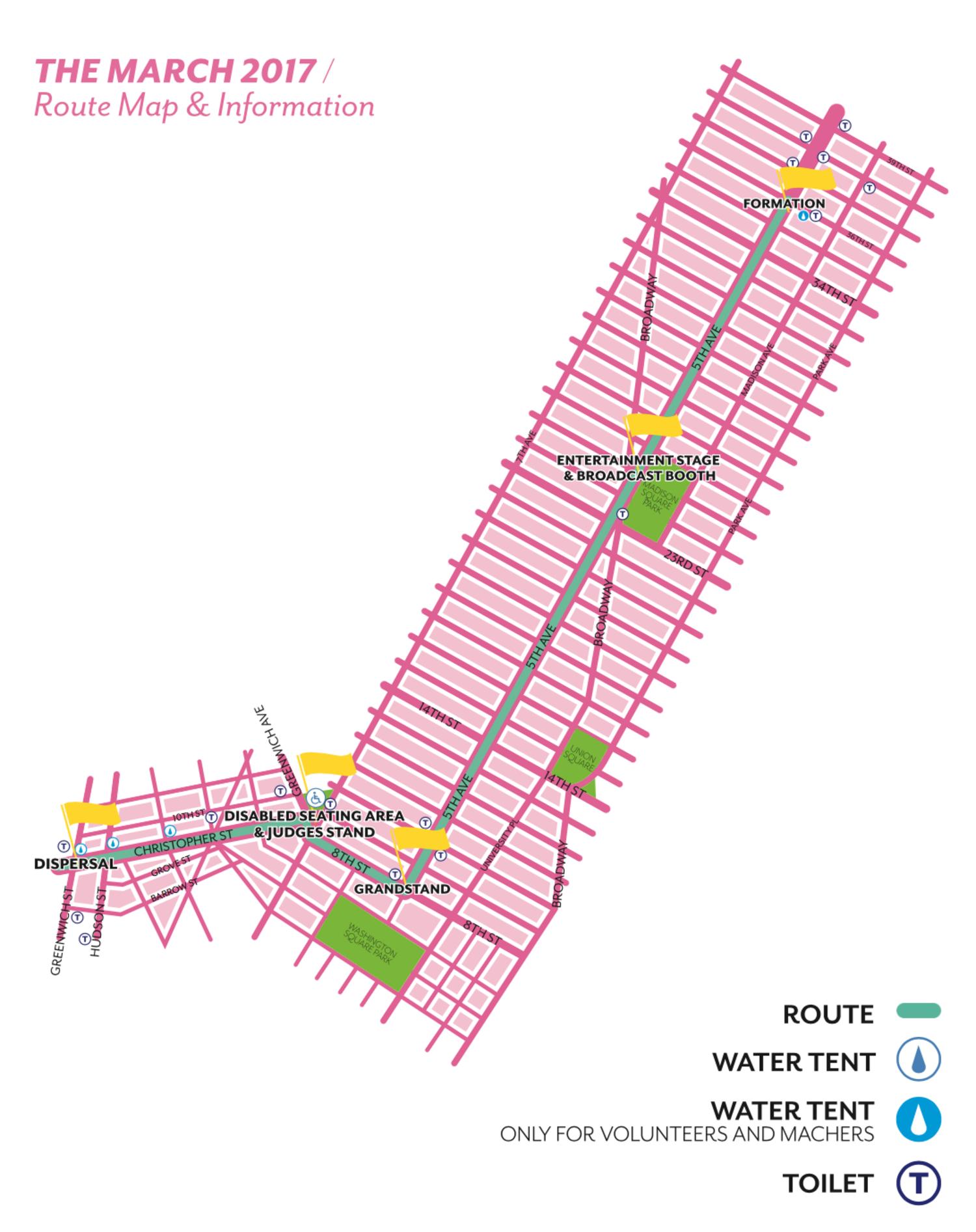 2017 NYC Pride Parade Route