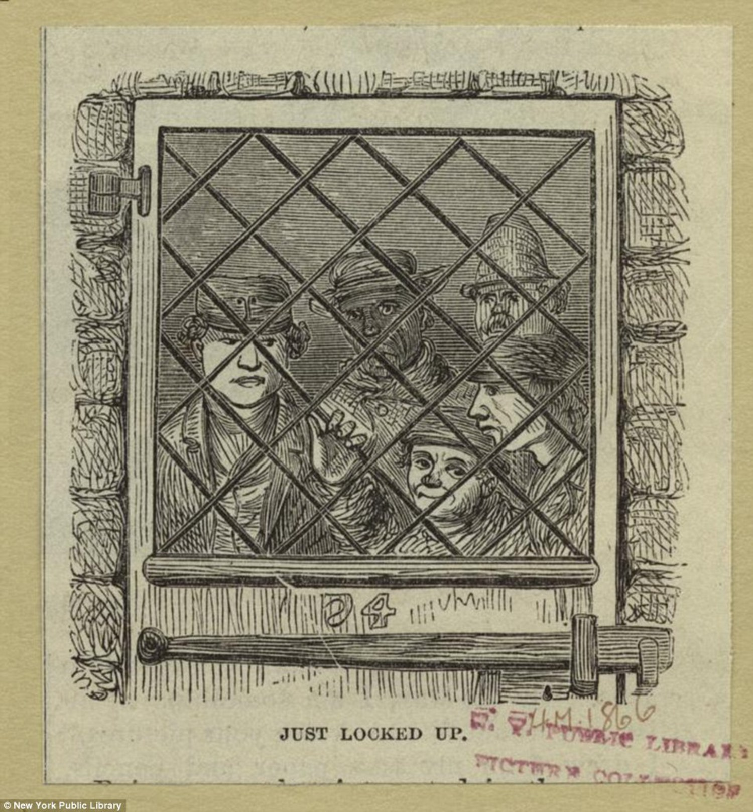 Some faces behind bars at Blackwell's Island Penitentiary. Gangs were given wide controls of the prison, due to corrupt workers