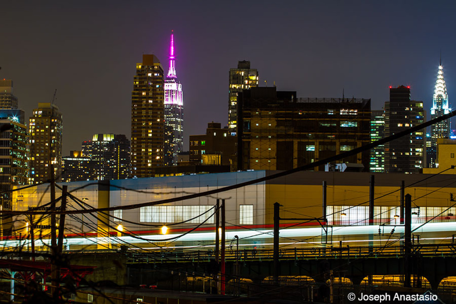 Views of the city skyline from the Skillman avenue end of the cutoff