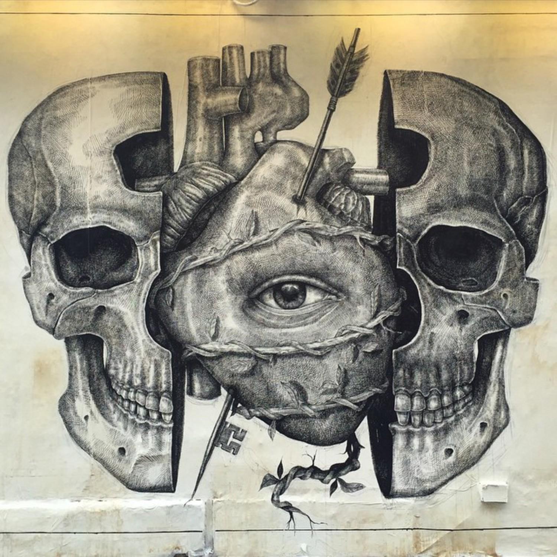 LO QUE TU ALMA VE... Mural en Rag & Bone. Houston & Elizabeth, Nolitas N.Y.