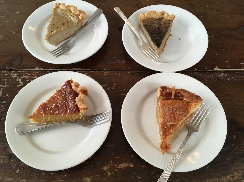 Hojicha, Coffee, Salted Honey, and Apple Pies