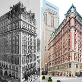 The Knickerbocker in 1912 (L); The Knickerbocker Today (R)