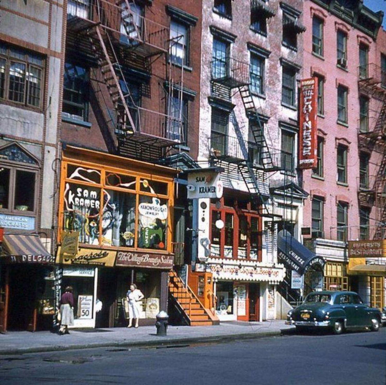 West 8th Street & Macdougal Street, circa 1955