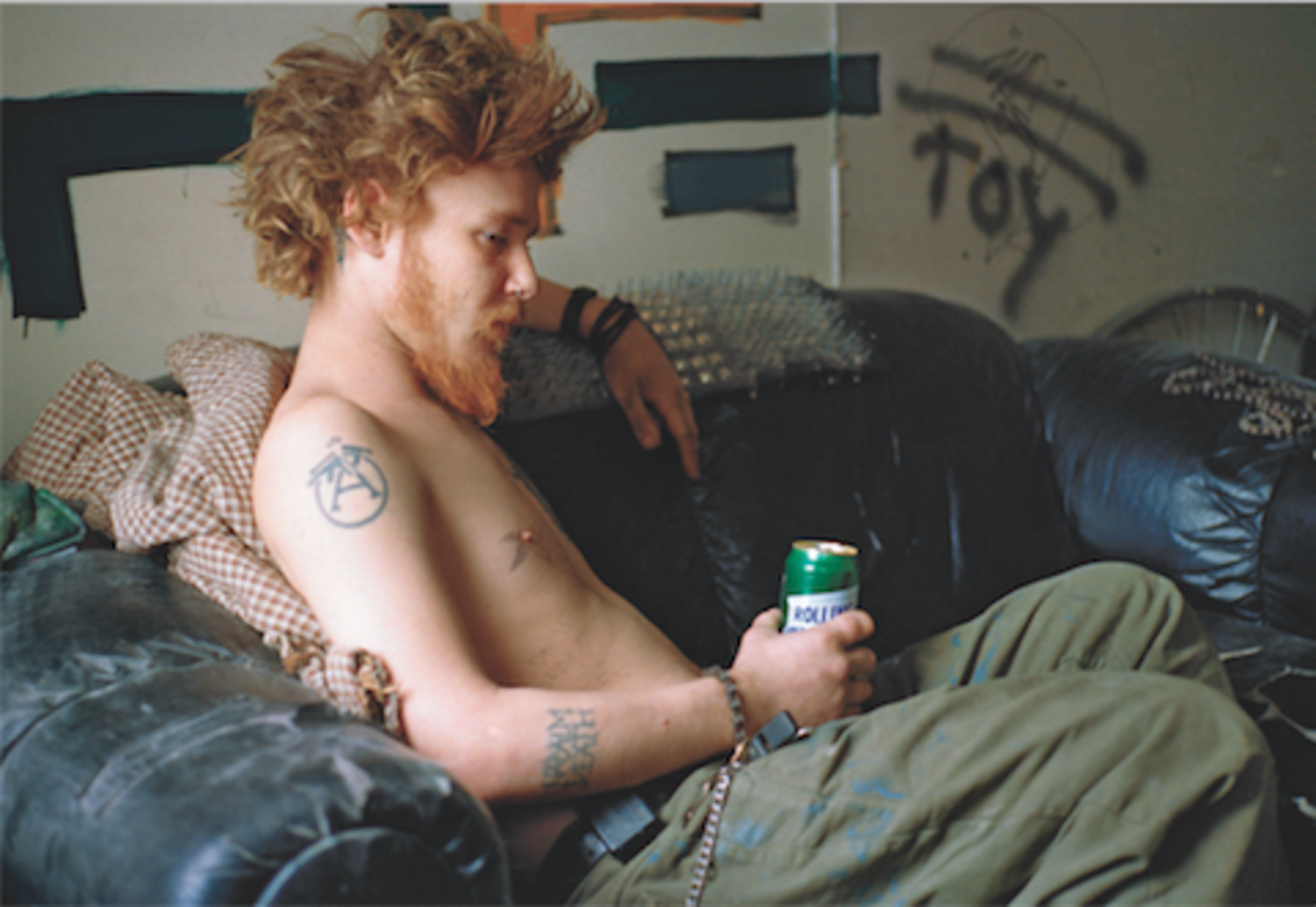 Ryan on Couch (Toy), Fifth Street Squat, 1995