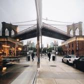 Brooklyn Bridge and St. Ann's Warehouse, DUMBO, Brooklyn
