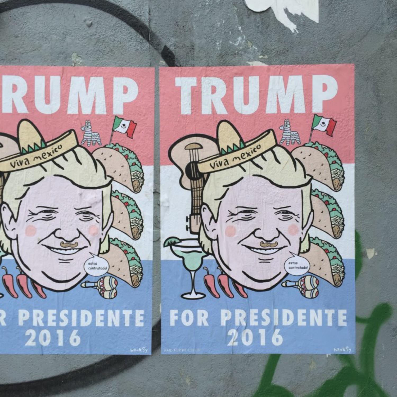 Hanksy Creates Donald Trump Presidential Campaign Posters