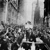 """Oct. 20, 1969: It was given almost as splashy a front-page treatment as the moon landing: The Mets won the 1969 World Series. """"Led by Manager Gil Hodges, they rode in open cars through canyons that once echoed with cheers for Charles A. Lindbergh, John H. Glenn and Neil Armstrong,"""" reported The Times. """"For eight years New York has loved this team,"""" announced Mayor Lindsay at City Hall, where the ticker-tape parade began. He continued: """"Today they're No. 1. The Cardinals know it, the Cubs know it, the Braves know it and the Orioles know it. Thank you for giving us a summer of joy."""""""