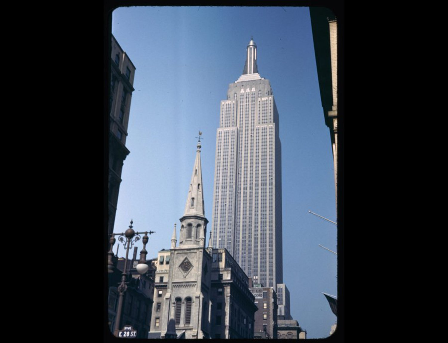 Here's a view of the Empire State Building from 28th Street in 1942, 11 years after it was completed.
