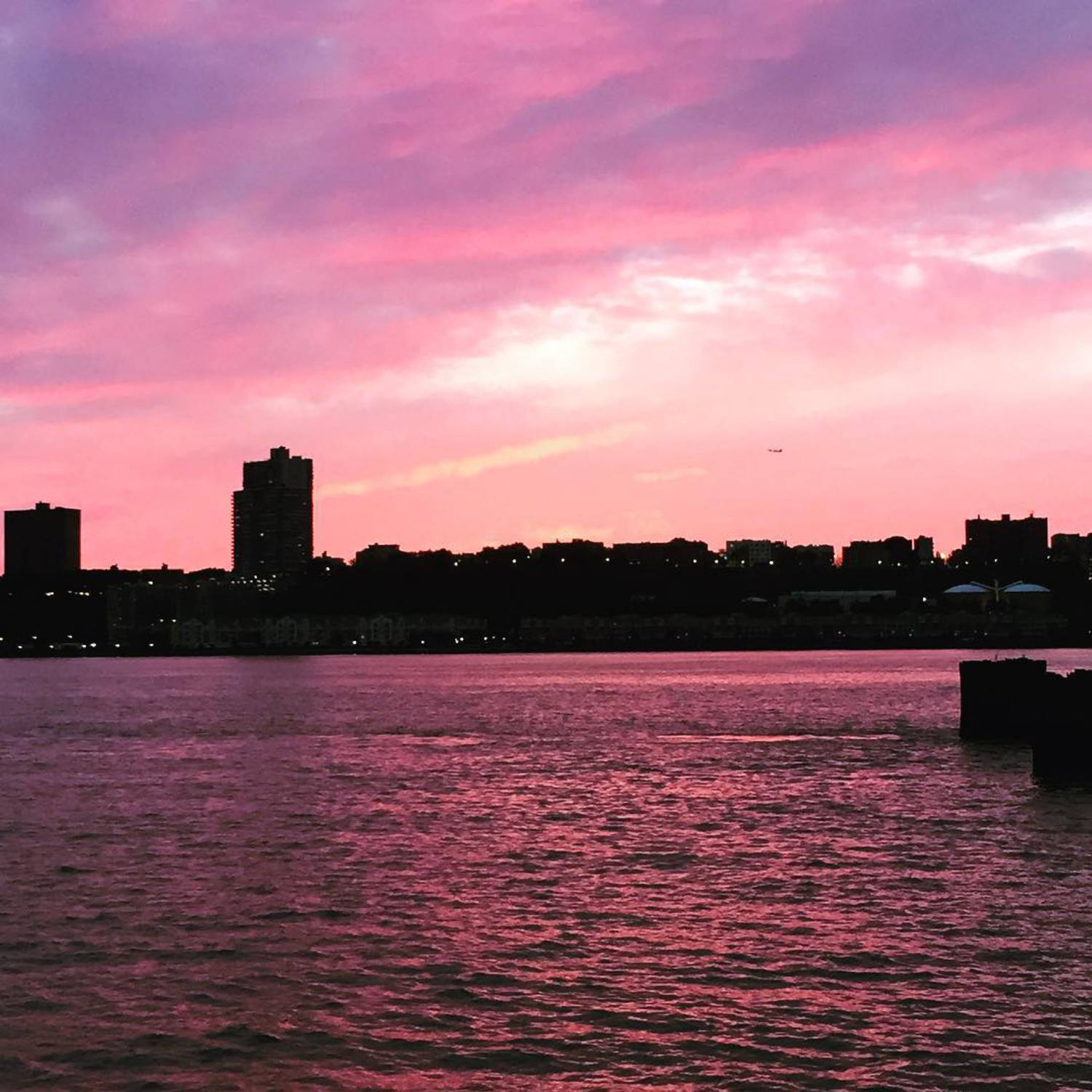 Sunsets with @kristicabe are the best! #UWS #NYC #riversidepark