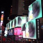 This month's #MidnightMoment, @chitraganeshbkny's 'The Scorpion Gesture' is a rich and colorful phantasmagoria that plays in the intersections of myth and science fiction. Watch on #TimesSquare's electronic billboards nightly throughout November at 11:57pm. @rubinmuseum @thekitchennyc @thestudionyc. . . . . . Video by Jason Akira Somma