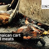 There are 3 different meats at this Jamaican meat cart in NYC