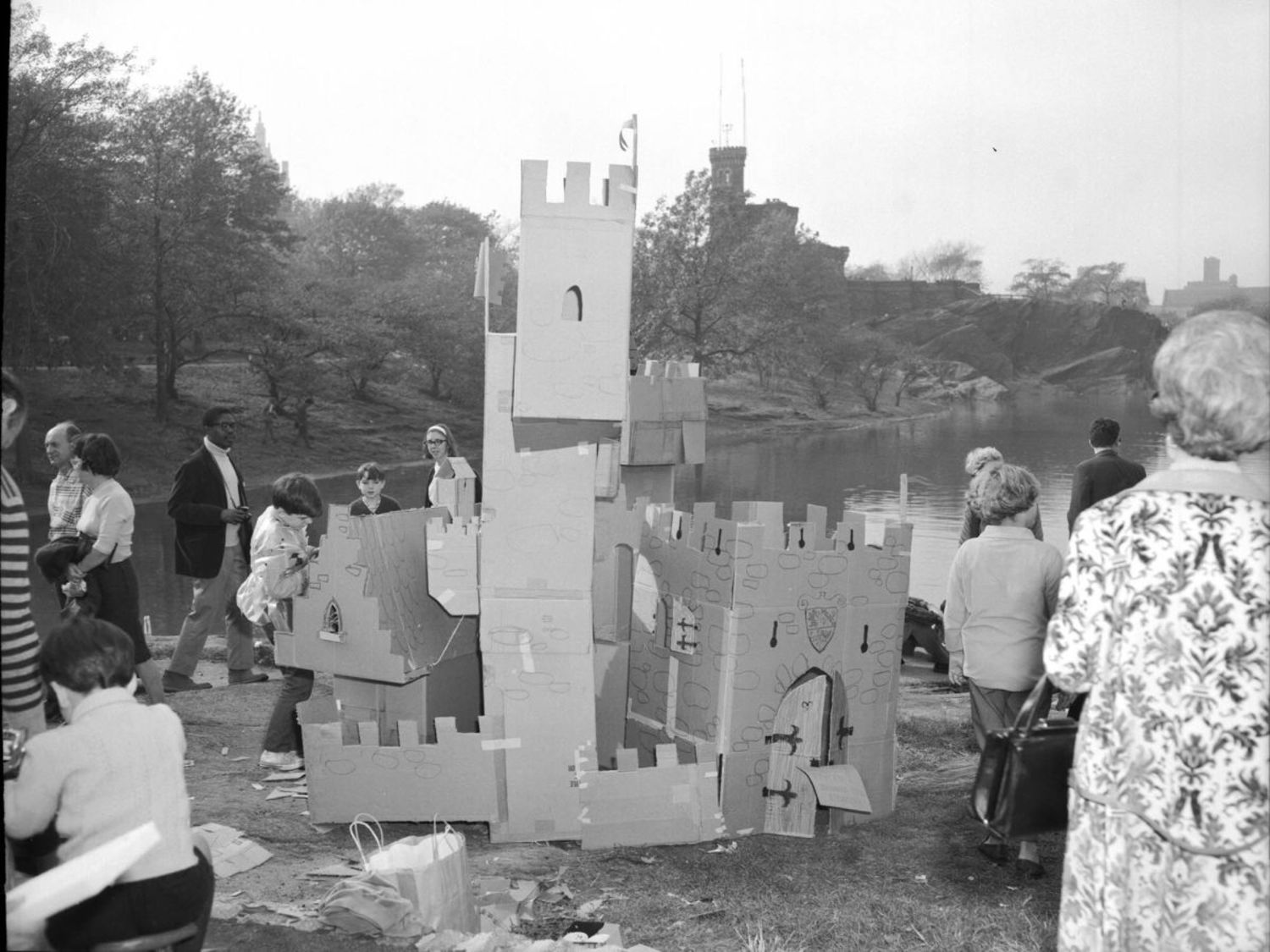 Castle building event, 1966.