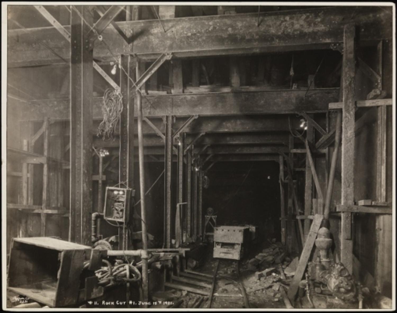 Byron Company (New York, N.Y.). Subways, Fourteenth Street Cut for Subway, #1. 1921