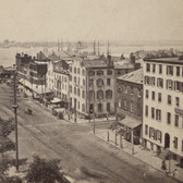 Battery Place Looking West from Broadway 1875