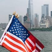 American Flags and New York City
