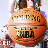 Artist Transforms Basketballs Into Fashionable Purses