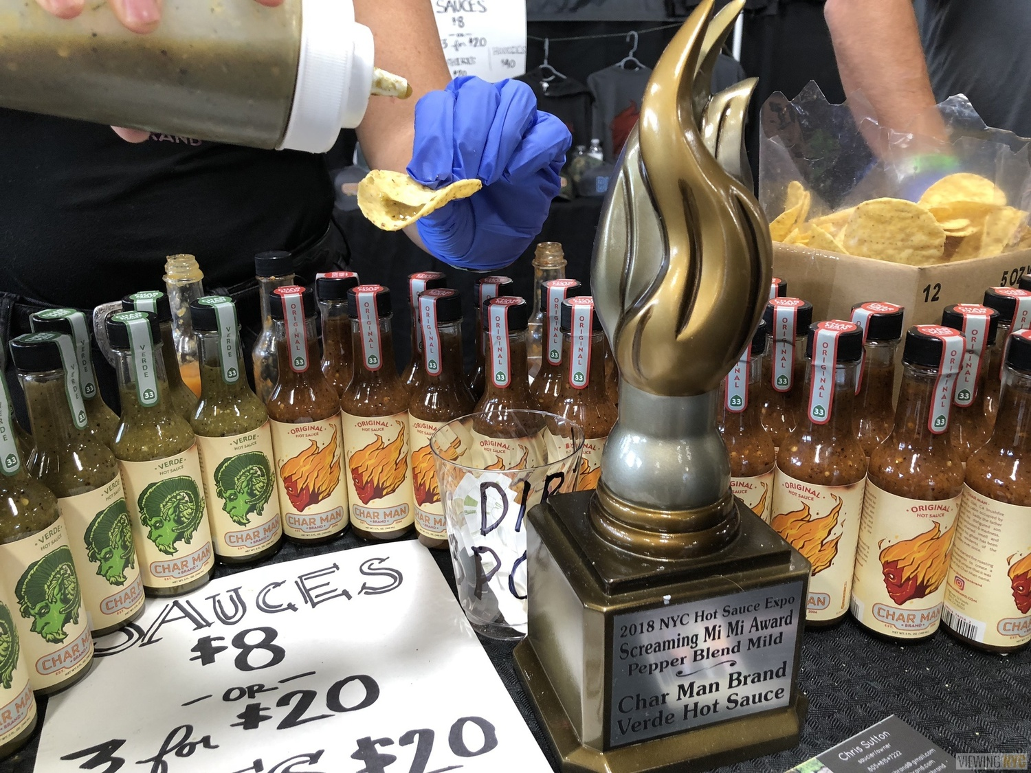 Char Man Brand Hot Sauce and Trophy | 2018 New York City Hot Sauce Expo