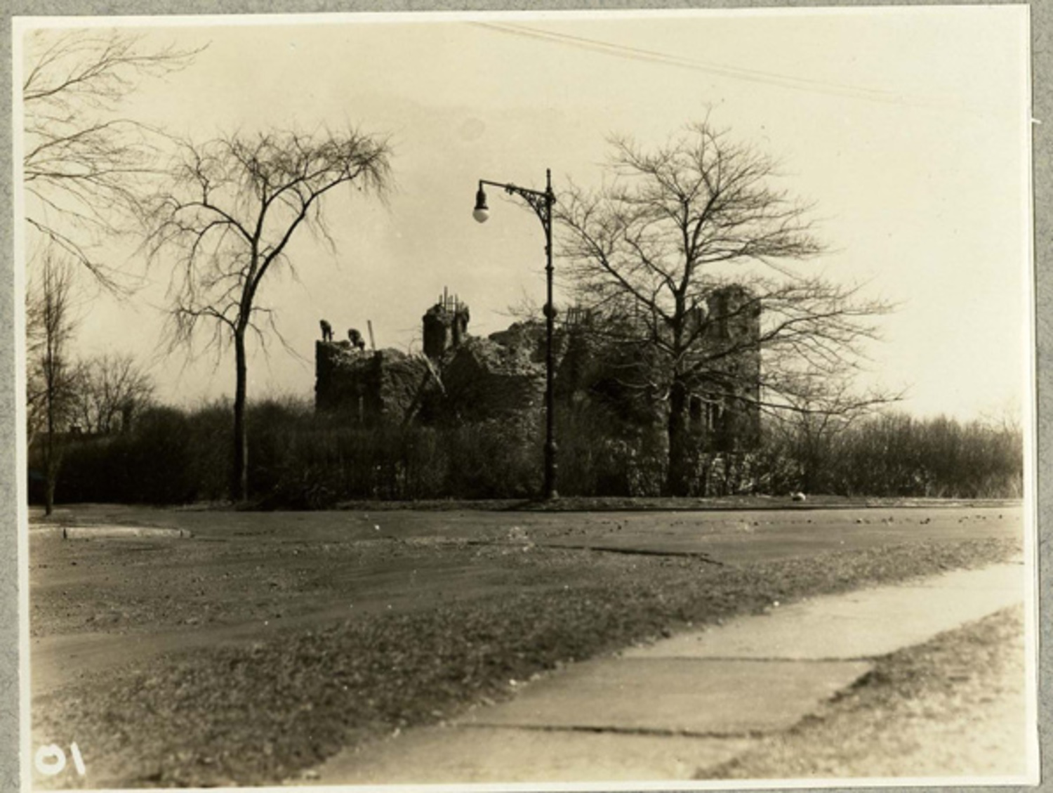 Libbey Castle during demolition, March 1931