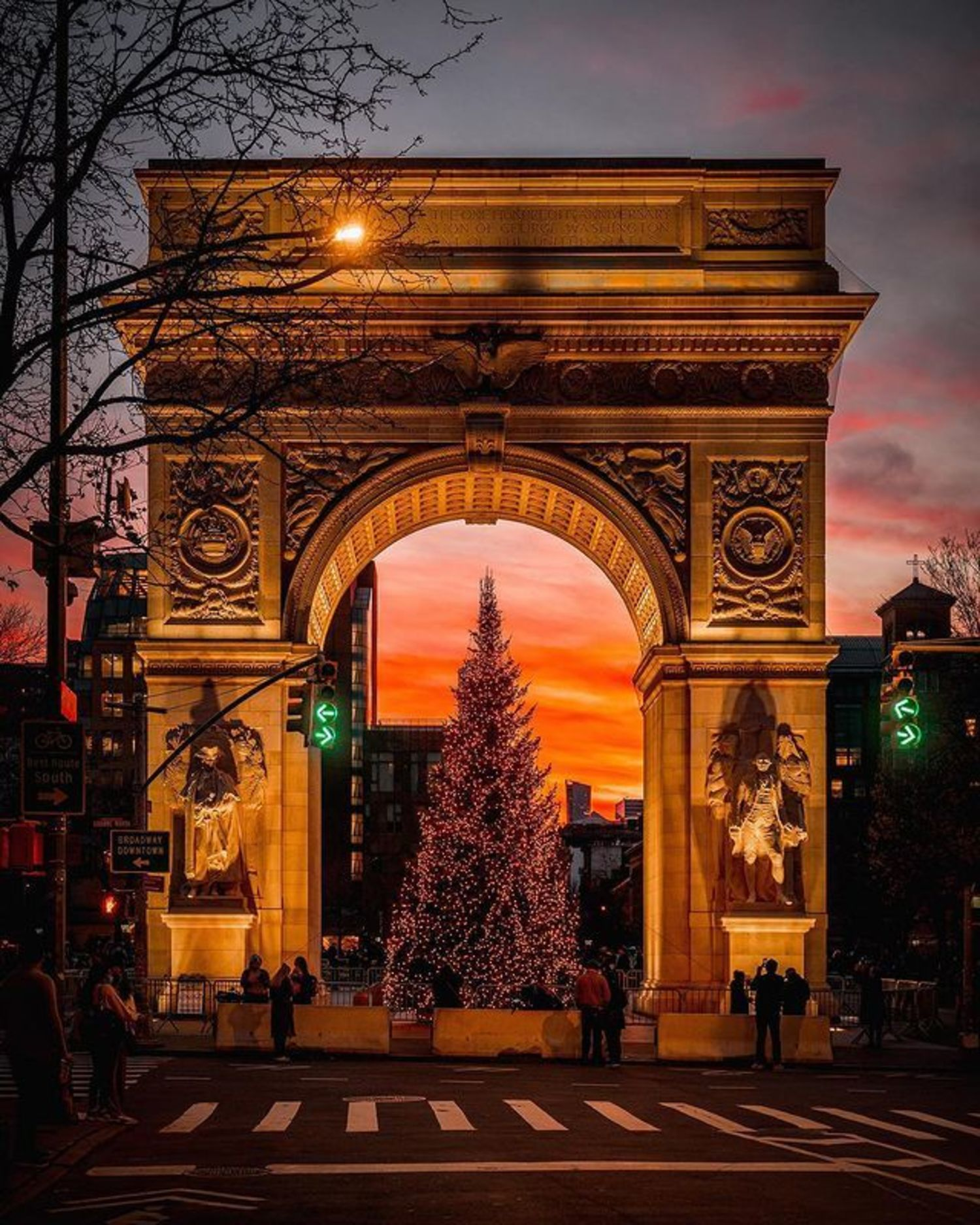 Washington Square Arch, Washington Square Park, Greenwich Village, Manhattan