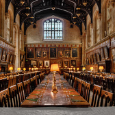 Dining Hall at Oxford | They told me this was used in the harry potter movies.  I'd eat there.
