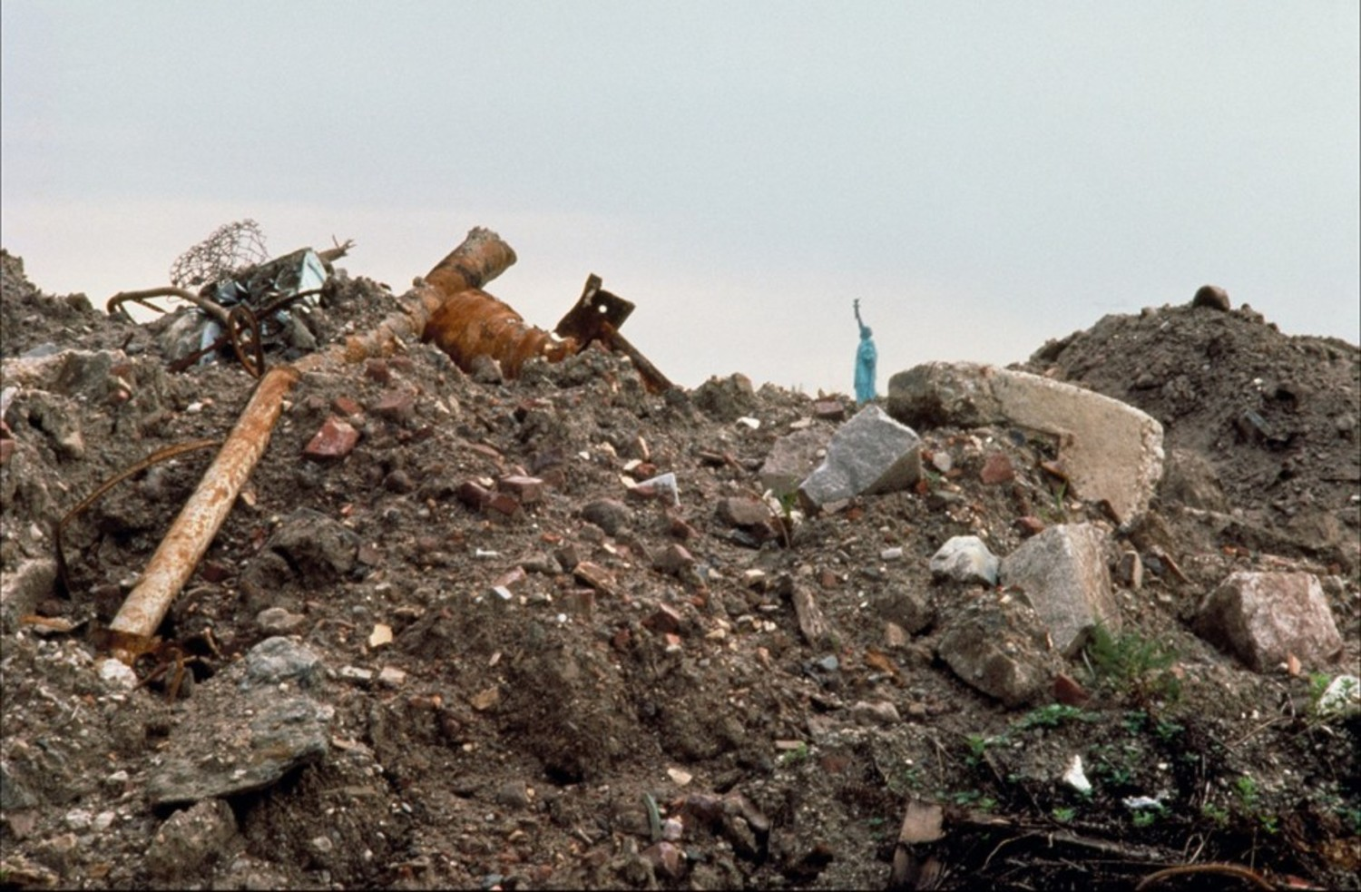 [Battery Park City landfill, Lower Manhattan:] Before planting
