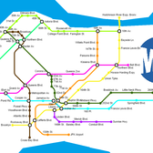 Queens Subway Map if every Subway Restaurant was a subway station