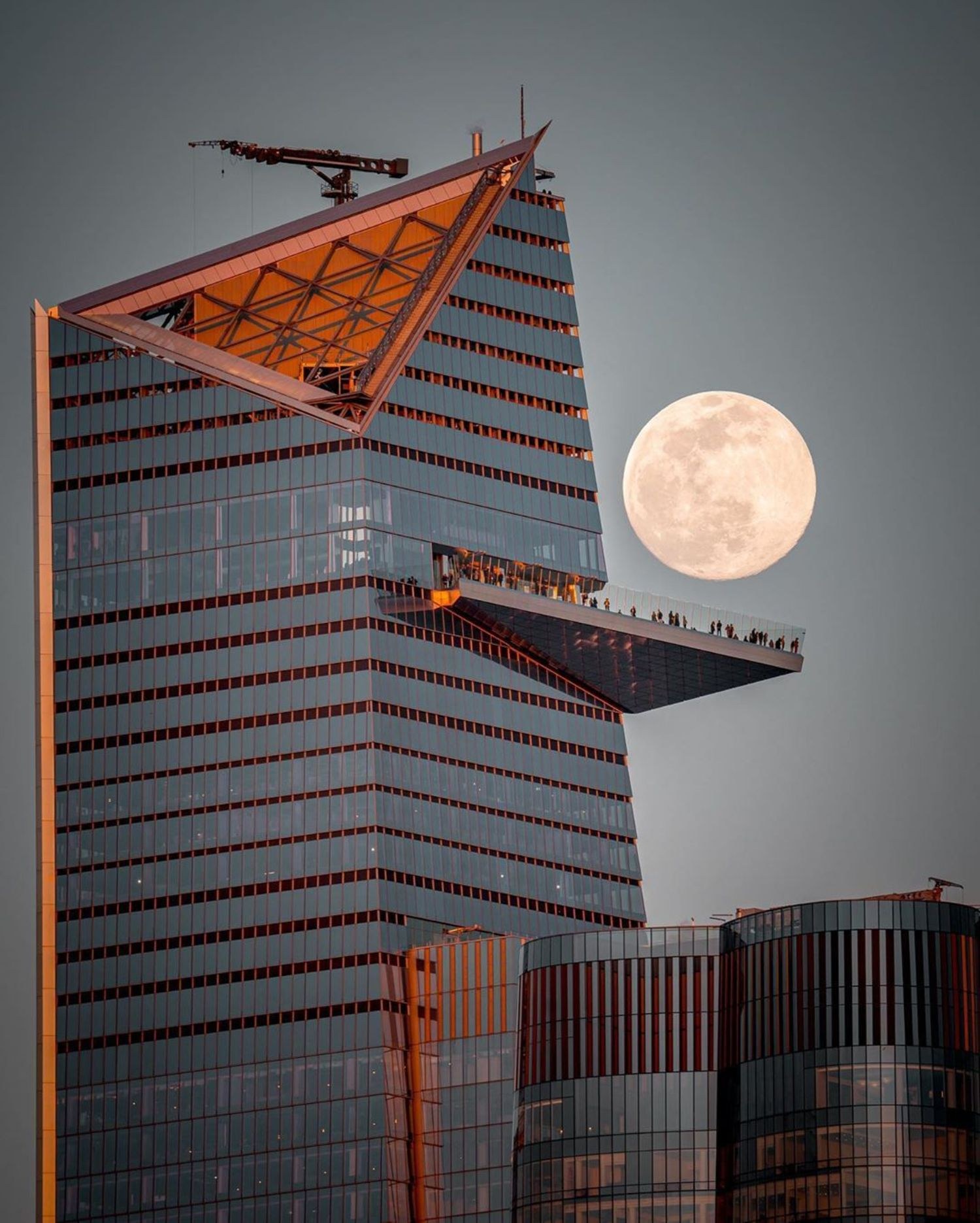 Moonrise over Hudson Yards, Manhattan