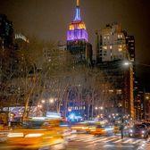 Empire State Building lit for Kobe Bryant, Midtown, Manhattan