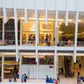 Stores are preparing to open at the Oculus shopping mall in the transportation hub between 2 World Trade Center and 3 World Trade Center on Aug. 15, 2016.