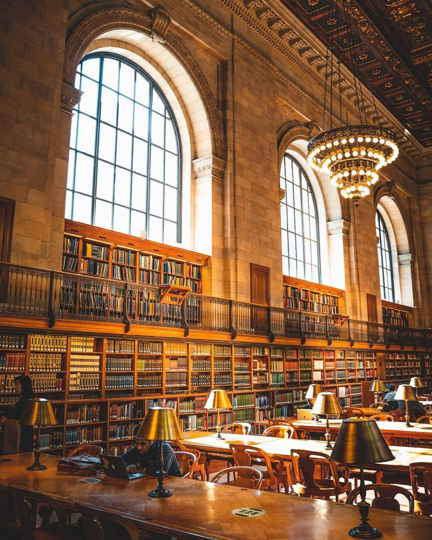 Rose Reading Room, NEw York Public Library, Midtown, Manhattan
