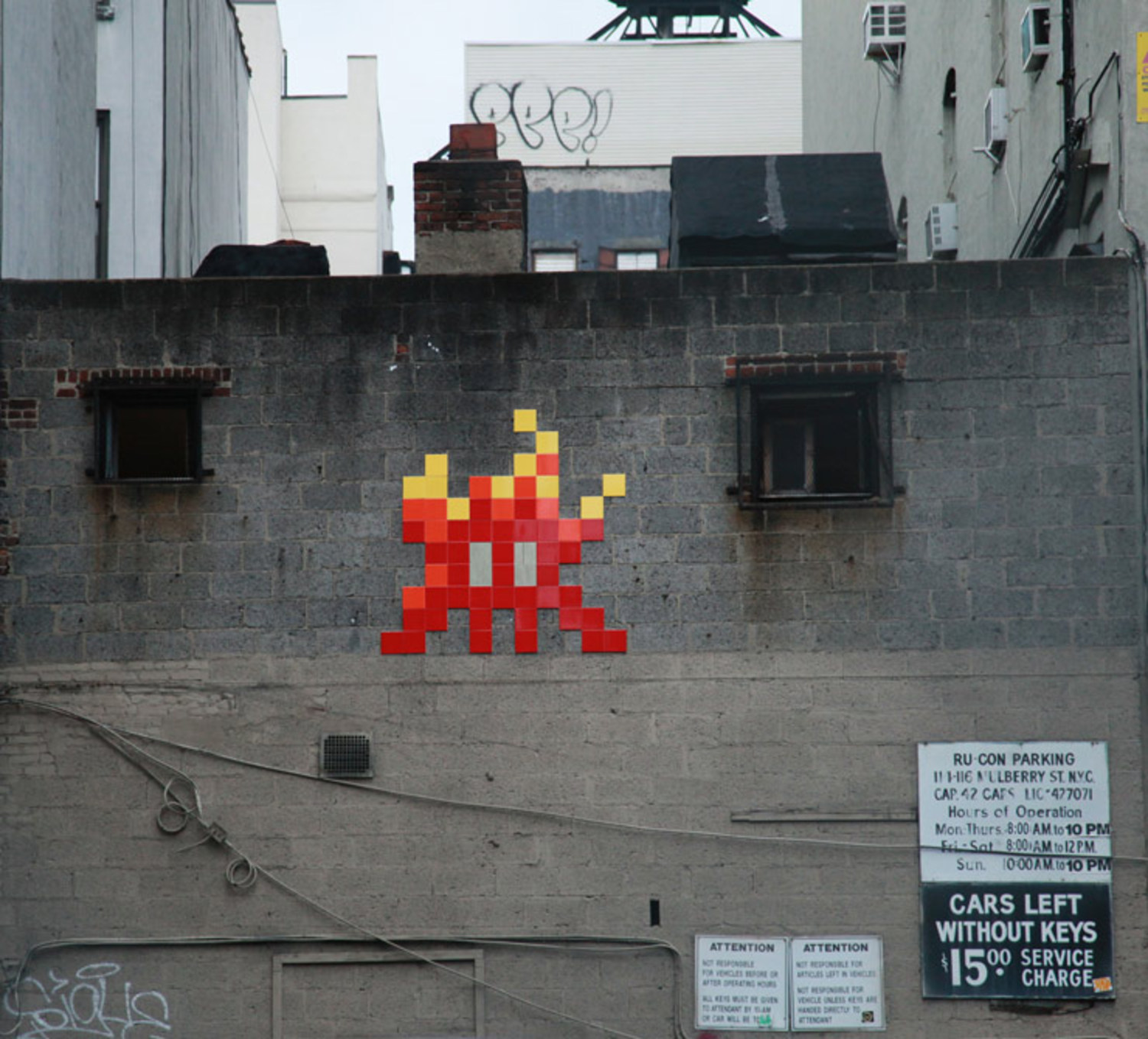 Invader. The L.I.S.A. Project. Manhattan, NYC.
