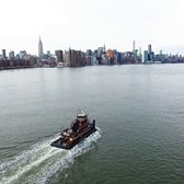 My Drone (DJI Phantom 3) was trying to catch a water taxi in NYC