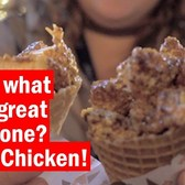 Know what goes great in a cone? Fried Chicken!