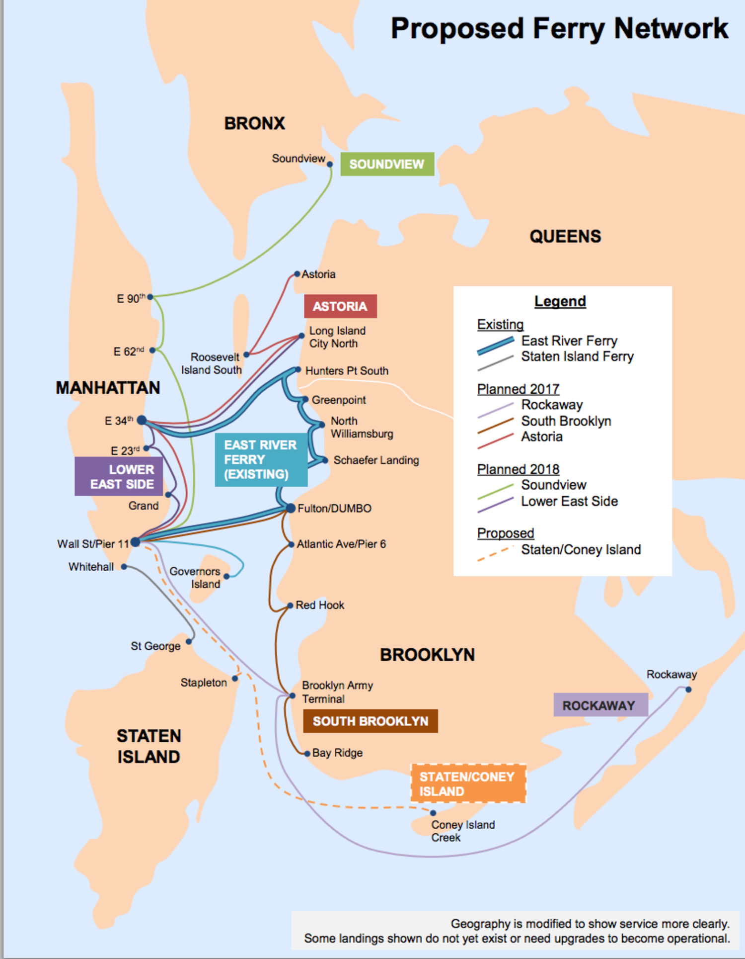 Proposed Ferry Network