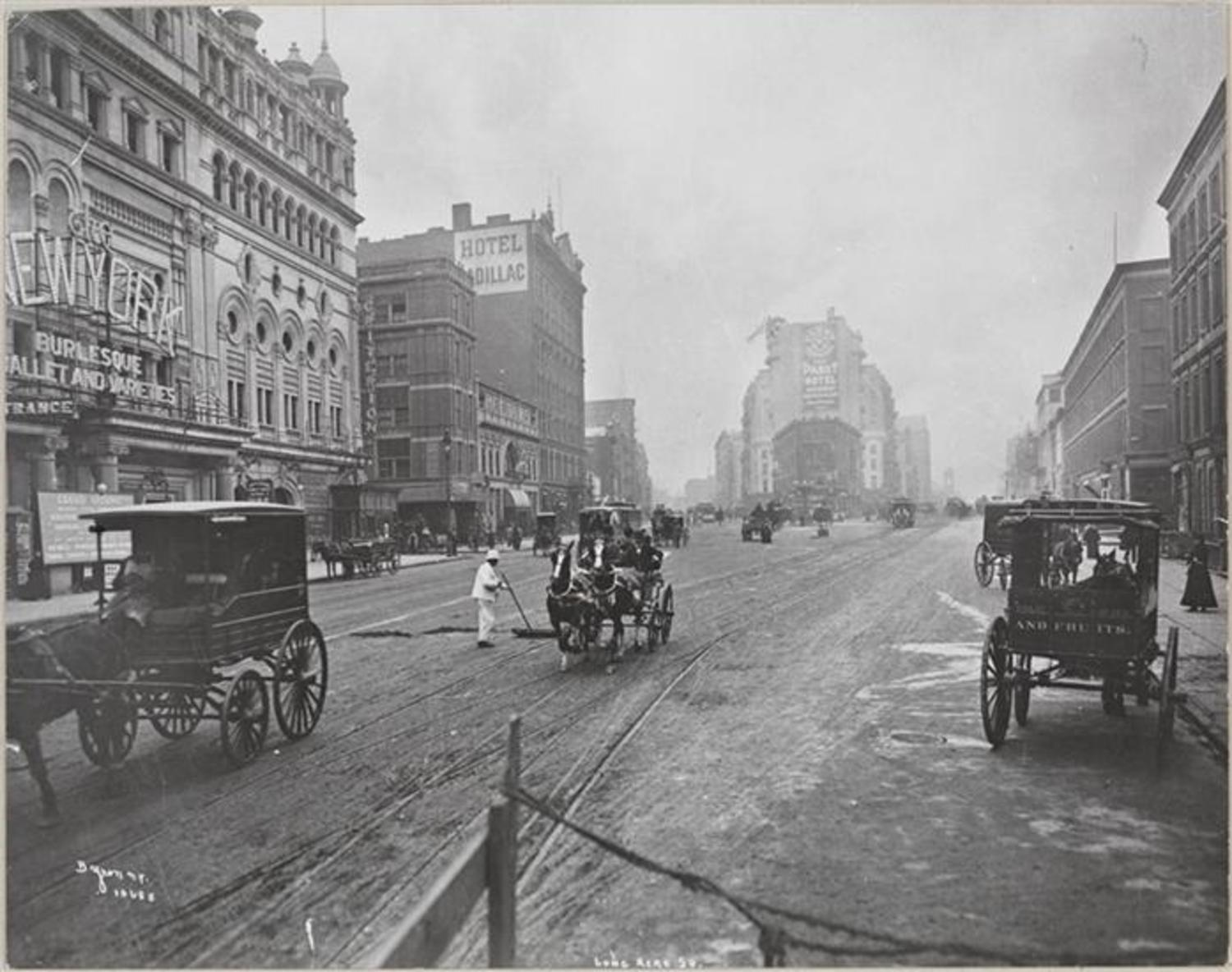 Longacre Square (Now Times Square), Broadway and 42nd Street.