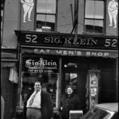 Fat Men's Shop, East Village, New York, 1955