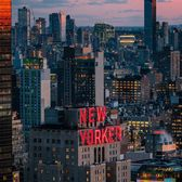 Sunset over New Yorker Hotel, Midtown, Manhattan