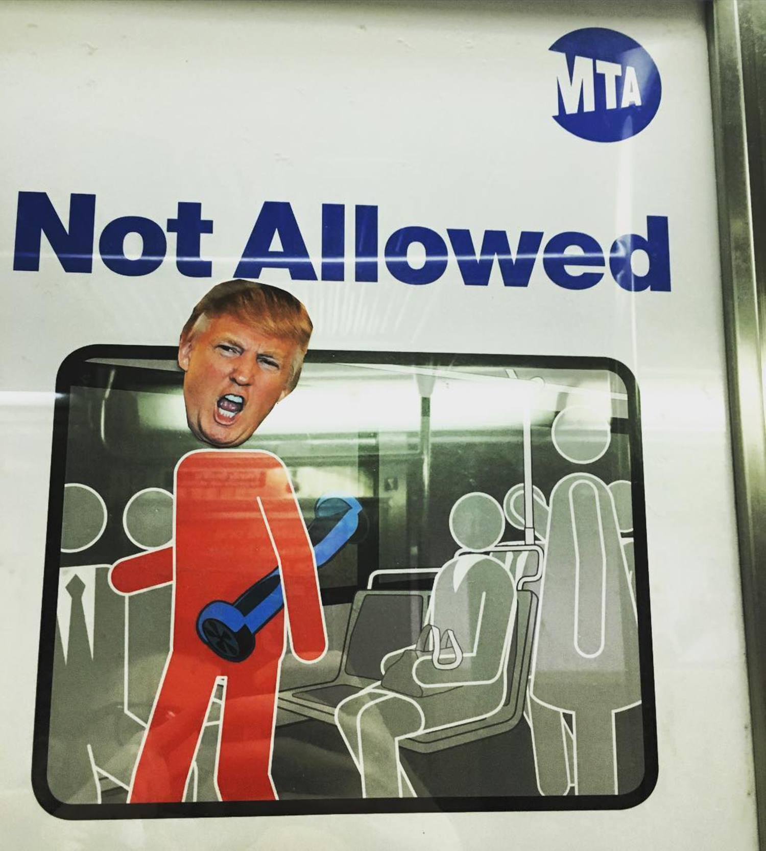 #NYC #newyork #subway #newyorkcity #streetart #gofuckyourself #donaldtrump #makeamericagreatagain #mta #sexgun #drugs @gothamist @gawker @huffingtonpost @foxnews @msnbc