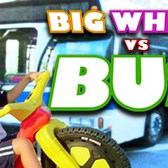 BIG WHEEL VS. BUS - Mark Malkoff