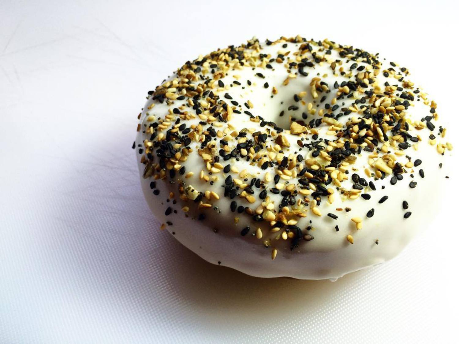 Good morning New York! Can't decide on a bagel or or doughnut? We've taken the worry out of your morning! The Everything Doughnut. #TDPNYC #doughnuts #donuts #food #cheese #yum #goodmorning #nyc #newyork #instafood #instagood #instadaily #fun #smile #different #makeithappen #laugh #wemakefun #blog #enjoy