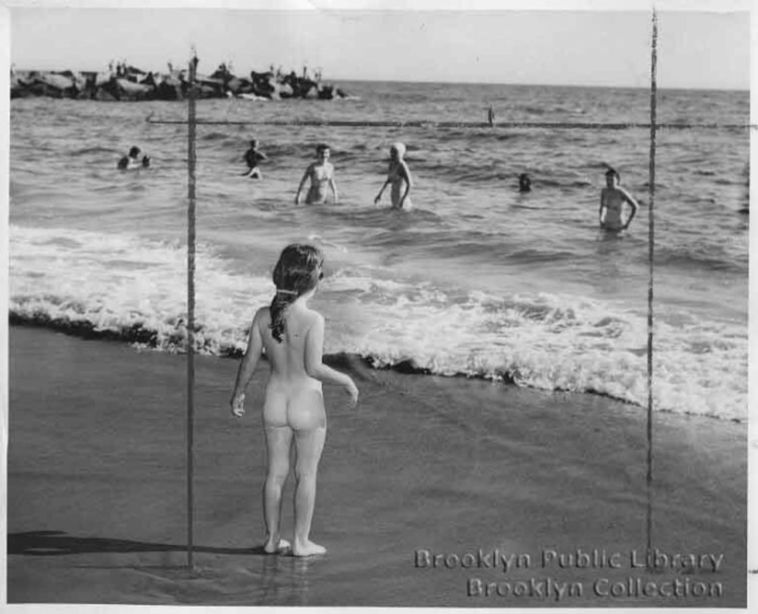 A young streaker in 1949.