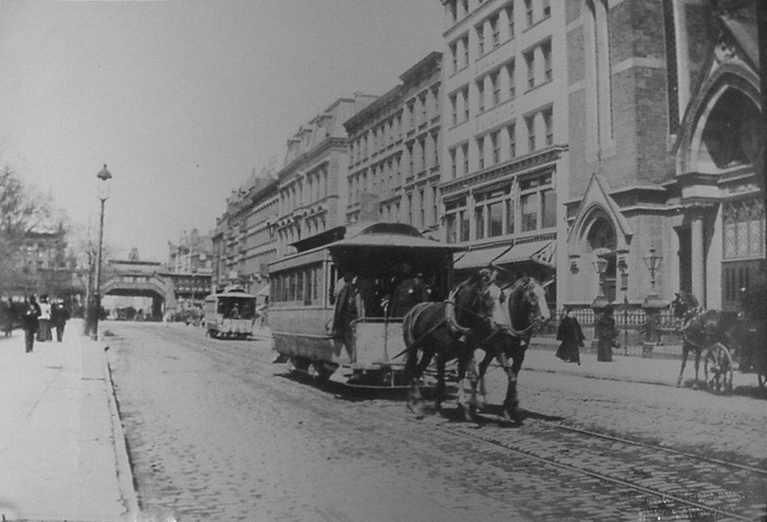 Looking West Towards Sixth Avenue On 42nd Street – 1890s