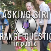 Asking Siri Strange Questions in Public
