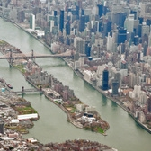 Aerial view of Roosevelt Island