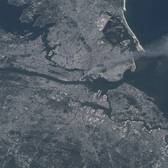 September 11th, 2001, as seen from the International Space Shuttle