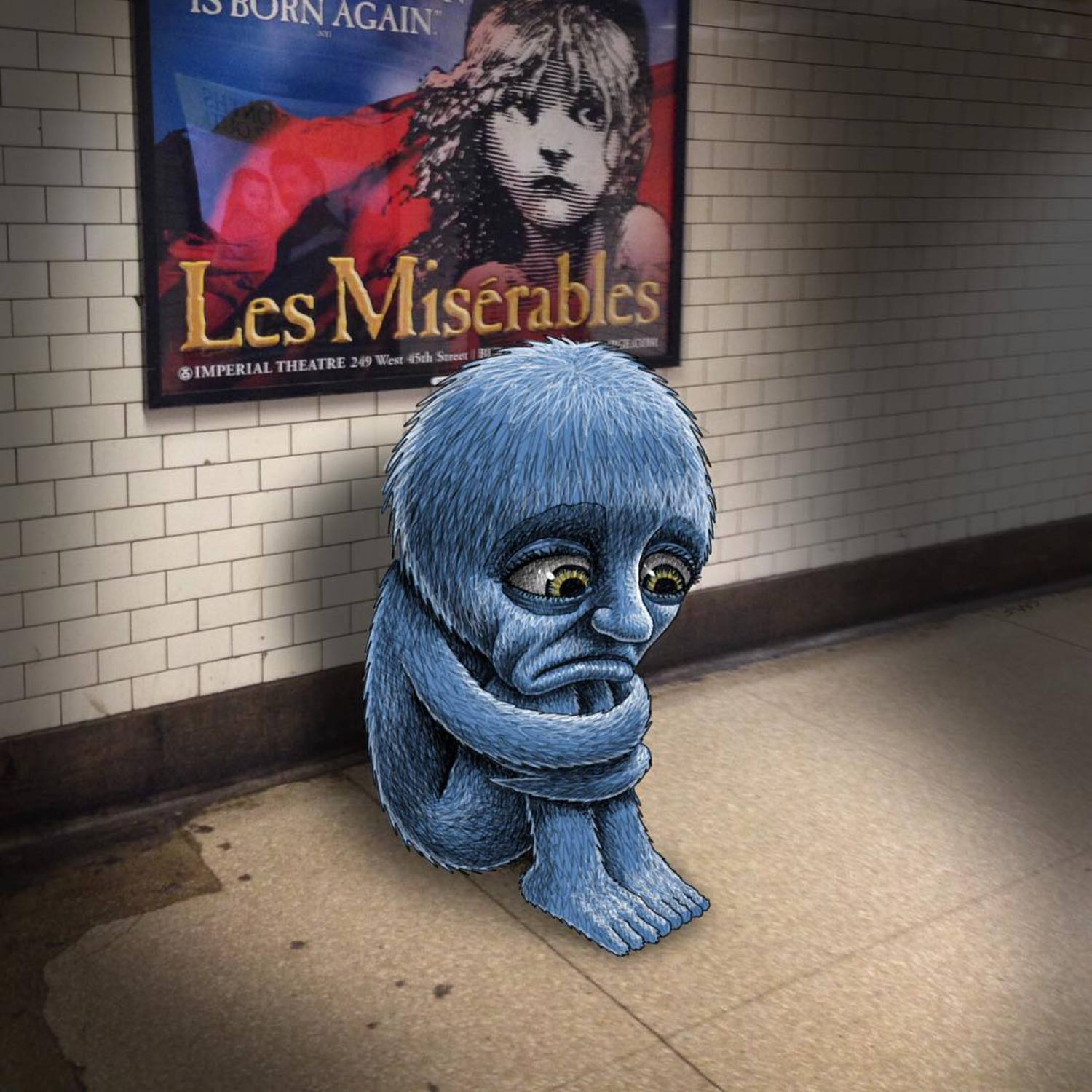 Monday. Les Miserables. #subwaydoodle #subway #doodle #swd #monday #lesmiserables #actuallyimquitehappy