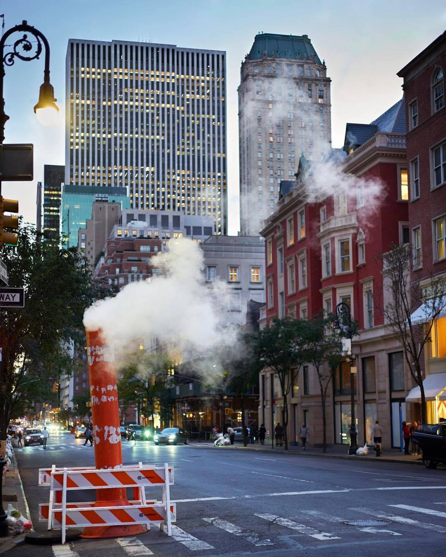 Steam vents in New York, New York